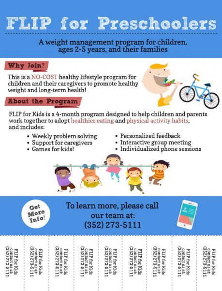FLIP for Preschoolers Flyer at UF