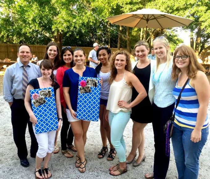 Dr. Janicke and CHP students send off students on Internship